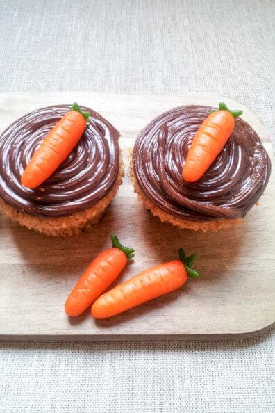 karottfen muffins möhren mit schokoladenganache marzipan möhren