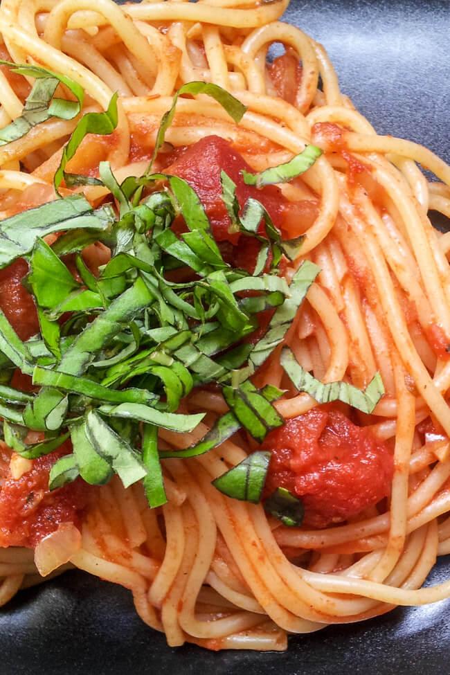 spaghetti napoli vegan tomatensauce kinder nudeln pasta