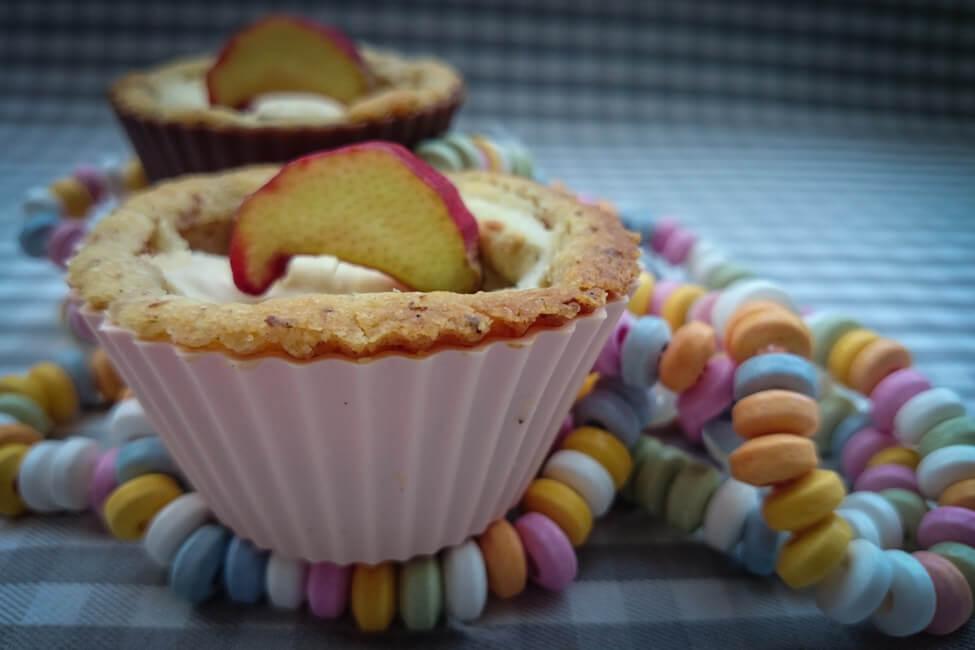 rhabarber cheesecake tarteletts käsekuchen muffin