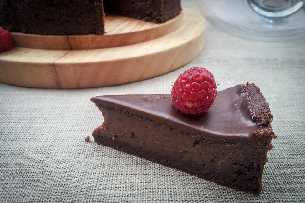 schokoladen tarte mit himbeeren schokotarte kuchen ganache
