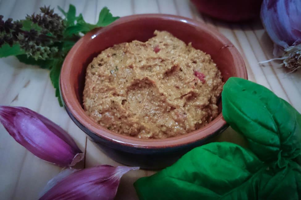 brotaufstrich italienisch vegan sonnenblumenkerne brotaufstrich