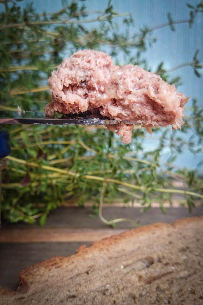 leberwurst selbst kochen mit thymian portwein