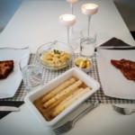 schnitzel fränkischer spargelsalat fränkischer kartoffelsalat
