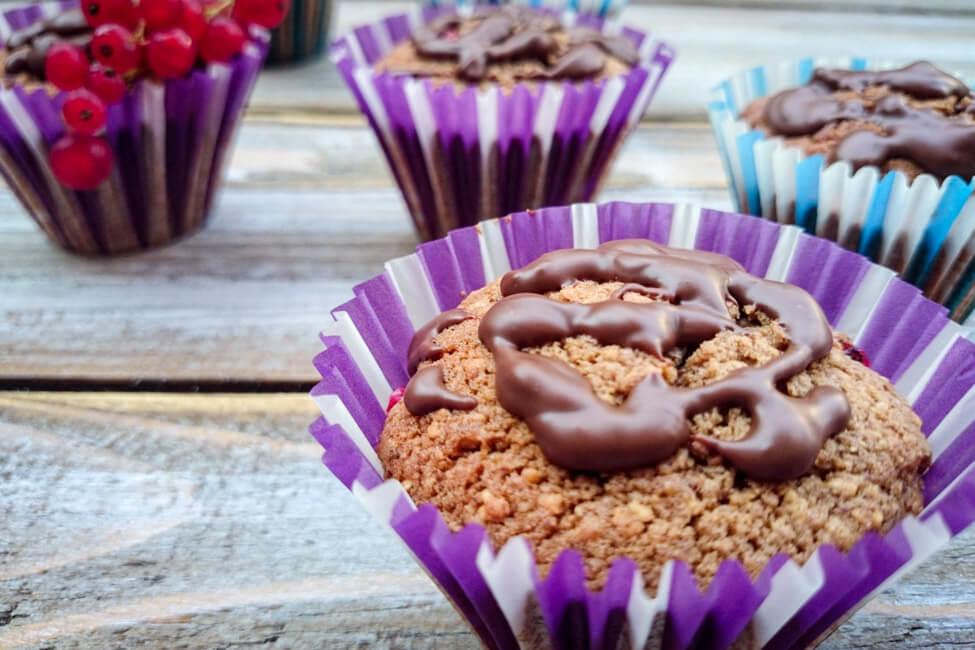 nougat muffins mit johannisbeeren