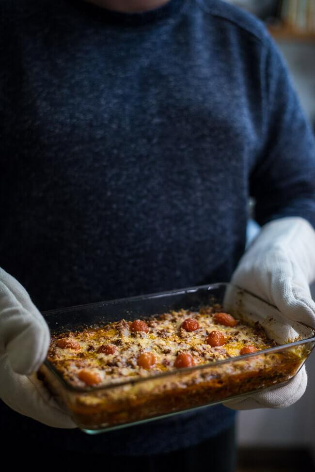 low carb lasagne zucchini fleisch hackfleisch