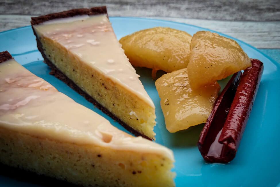 schokoladen birnen tarte kuchen birnen kompott eingelegte birnen zimt vanille dessert