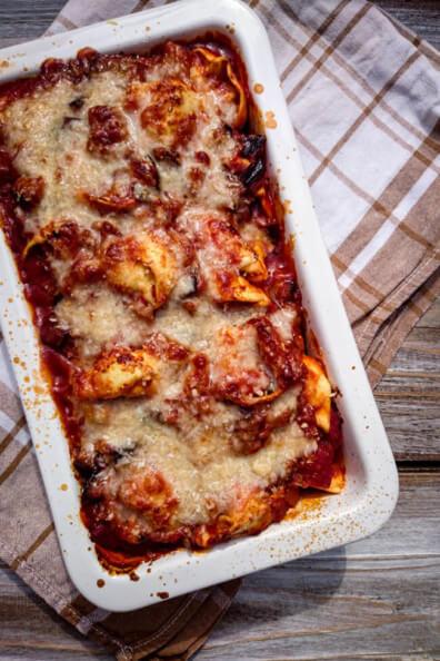 tortellini auflauf mit auberginen schnell und einfach vegetarisch veggie