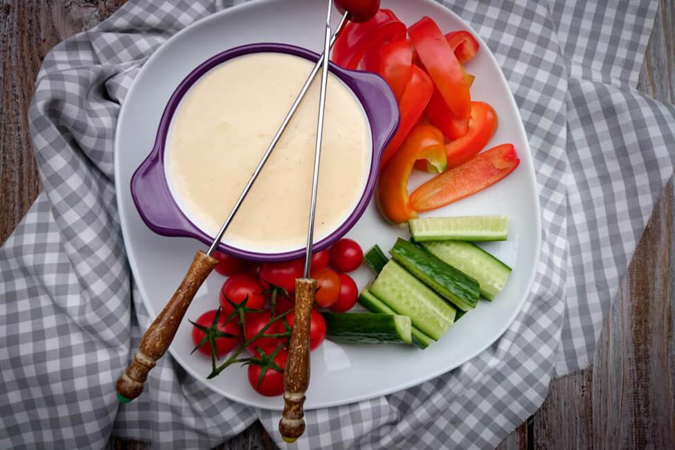 käse fondue klassisch mit weißwein