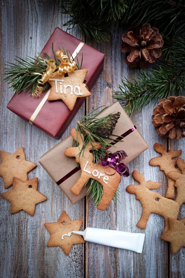 weihnachtsgeschenke aus der küche christbaumschmuck lebkuchen weihnachtsschmuck selbst machen baumschmuck anhänger geschenkeanhänger