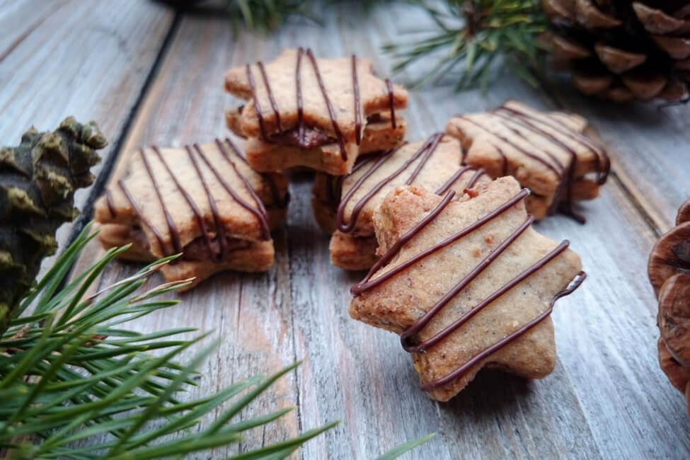 nougat plätzchen weihnachtsplätzchen sterne gefüllt schokolade nussnougat nutella