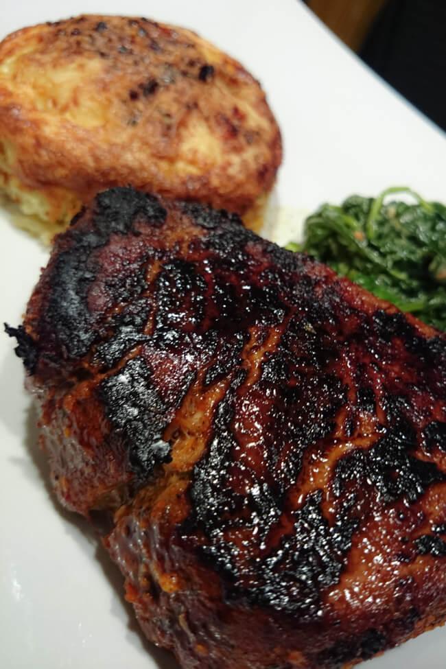 kartoffel gratin auflauf lecker einfach steak spinatsalat