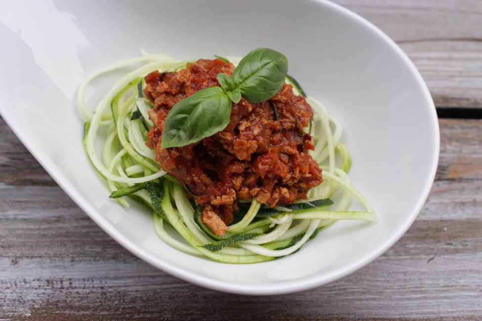 zoodles zucchini nudeln mit tofu bolognese vegetarische bolognese sauce
