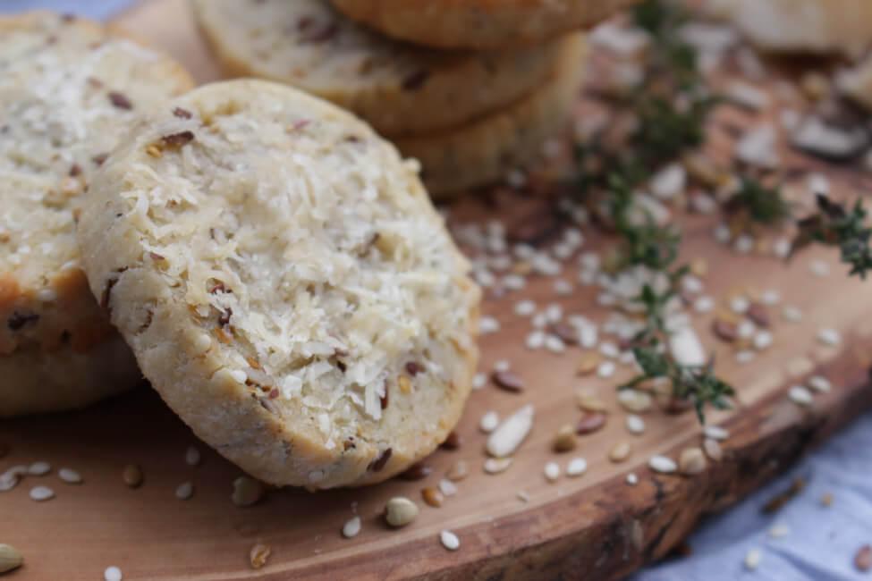 parmesan cookies käse kekse knabbern