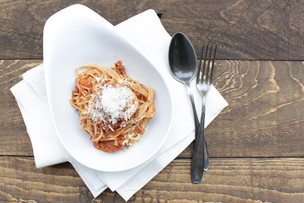 spaghetti bolognese hackfleischsauce tomaten nudeln pasta