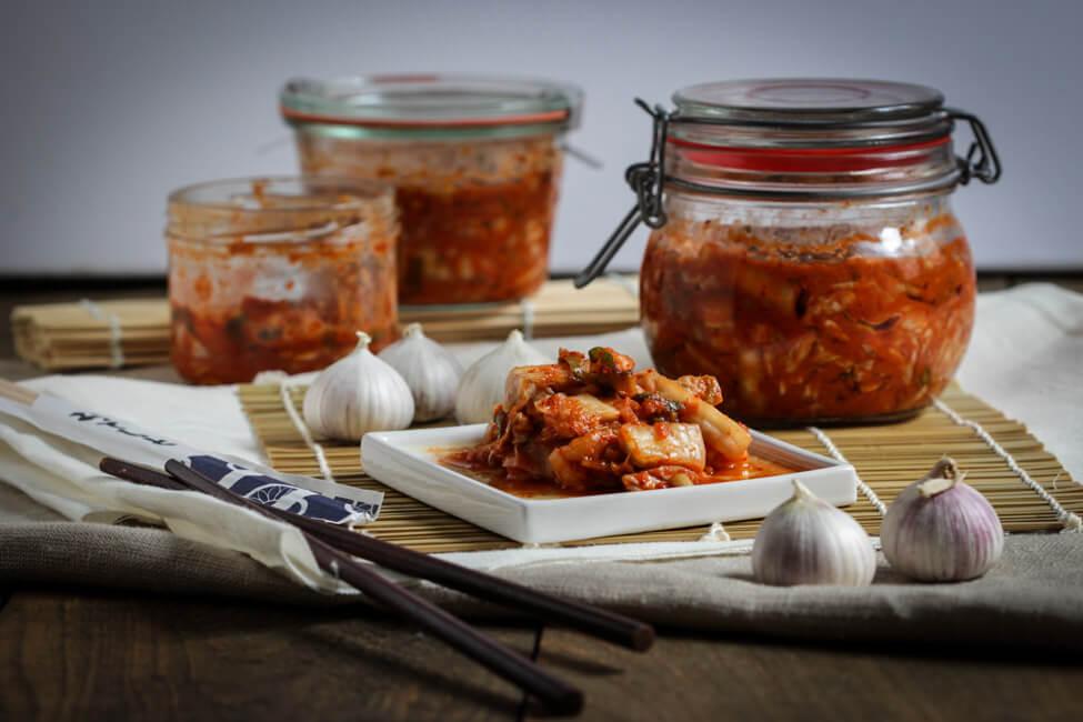 kimchi koreanisches sauerkraut chinakohl kohl fermentation fermentieren haltbar machen traditionell
