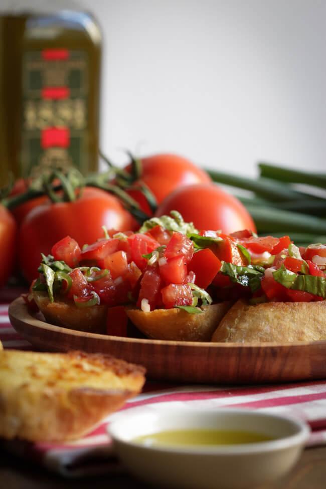 bruschetta selber machen tomaten basilikum vorspeise italienisch vegan veggie vegetarisch