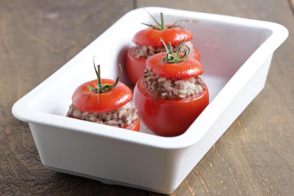 gefüllte tomaten hackfleisch reis resteverwertung einfach schnell