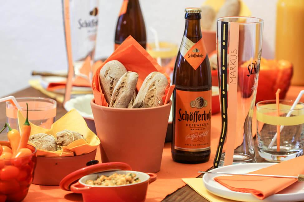 brotzeit buffett bayerisch franken bier hefeweizen obatzda