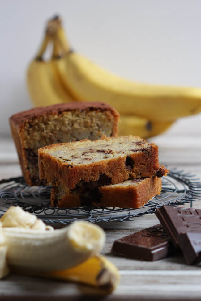 bananenbrot schokolade chocolate chunk banana bread