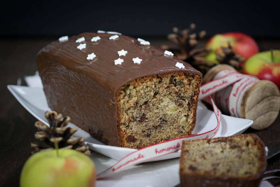 apfel gewürz kuchen rührkuchen kastenkuchen einfach