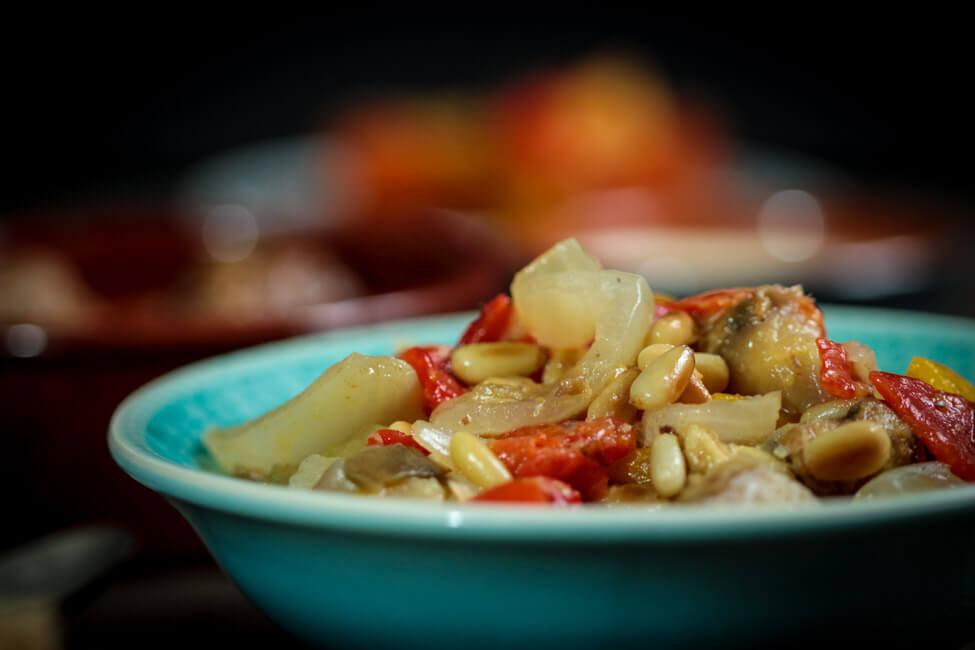 spanische tapas essen mit freunden escalivada gegrilltes gemüse