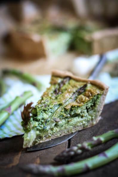 bärlauch spargel quiche tarte grüner spargel vegetarisch veggie auflauf