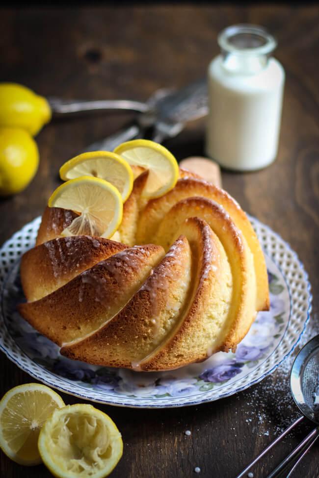 zitrone buttermilch gugelhupf rührkuchen