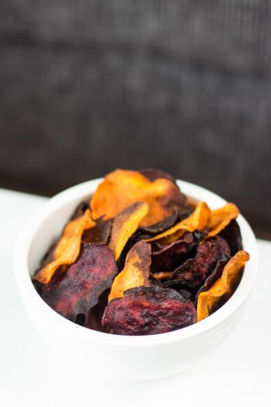 gemüsechips süßkartoffel rote bete chips vegan gesunder snack