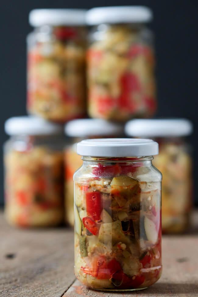 zucchini relish chutney einkochen einwecken einmachen