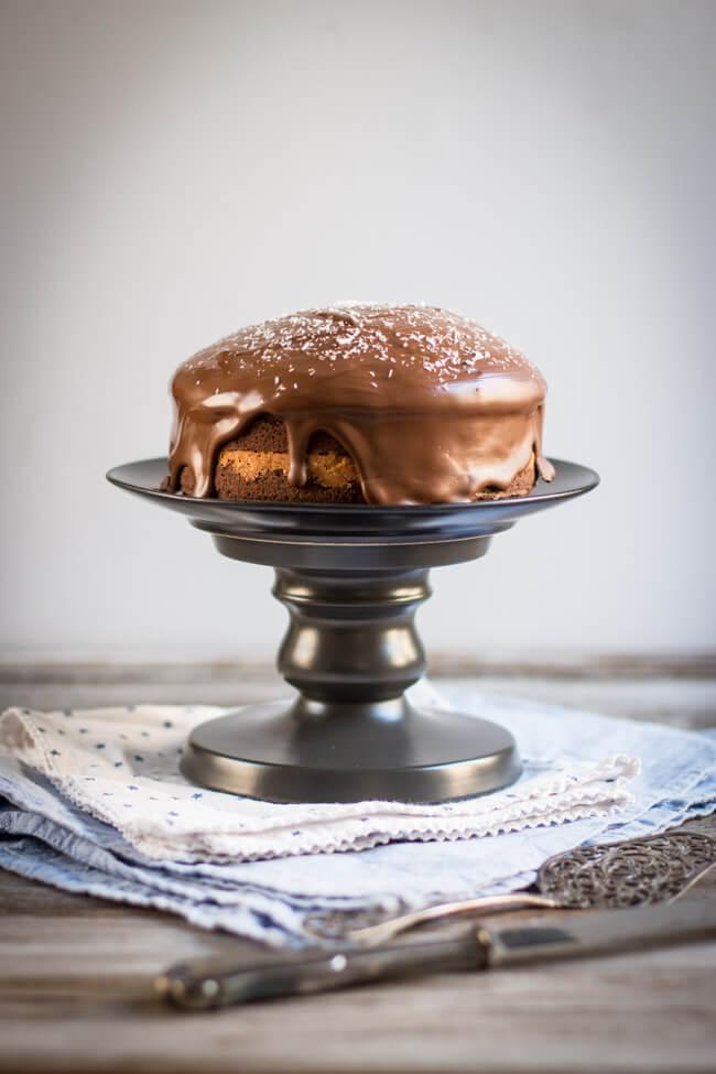 kokos schokoladen kuchen bounty kuchen torte schokoladenglasur