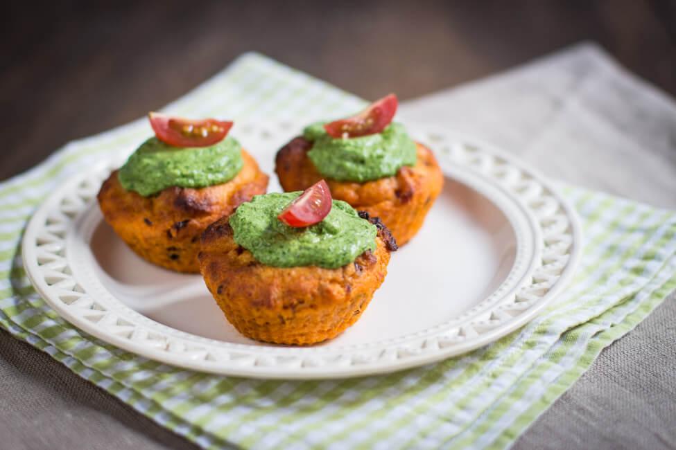 tomaten cupcakes muffins rucola frischkäse topping kampf der köche party buffett