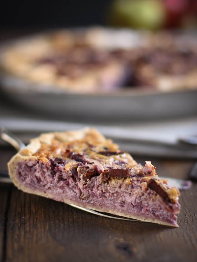 rotkohl rotkraut quiche tarte mit speck auflauf