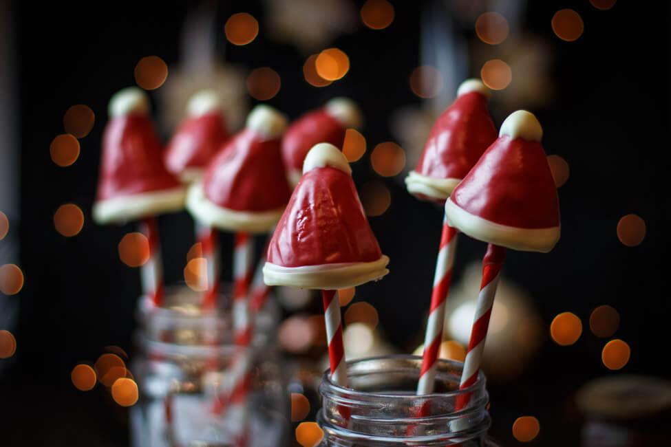 nikolaus mützen cake pops cakepop santa weihnachten christmas