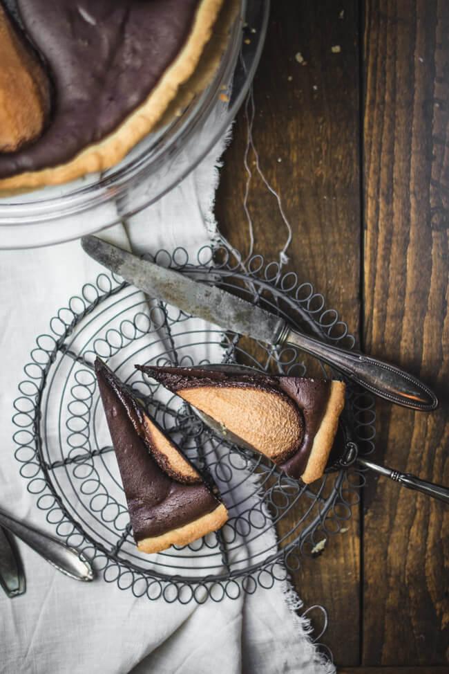 Tarte ala Birne Helene Schokoladentarte mit Birnen Dessert Loriot Backen