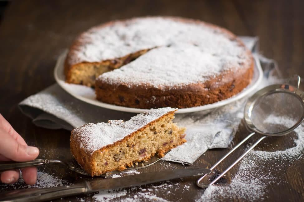 apfel dattel kuchen mit ingwer rührkuchen