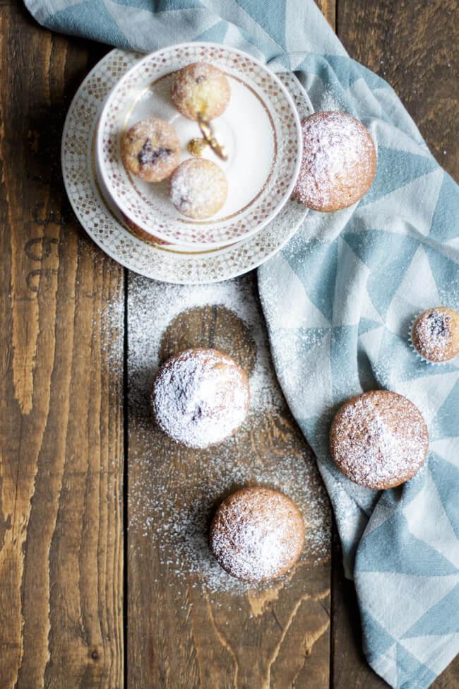 nougat muffins einfach nutella füllung kuchen
