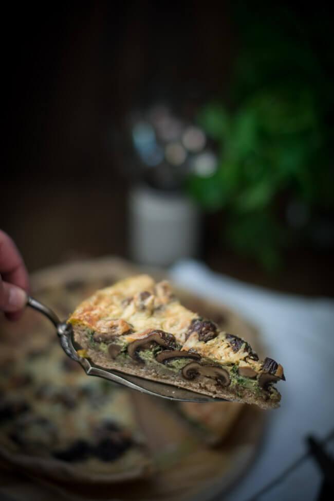 pilz quiche tarte petersilie champignons egerlinge vegetarisch veggie