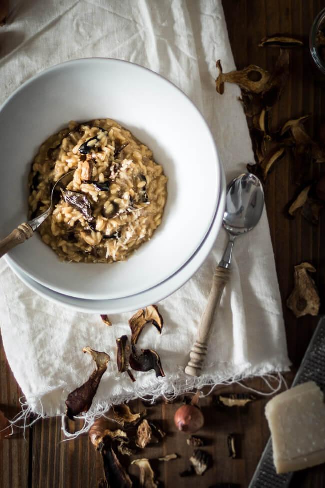 waldpilz risotto weißwein parmesan pilze steinpilz