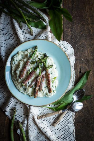 bärlauch risotto grüner spargel bacon reisgericht cremig schlotzig
