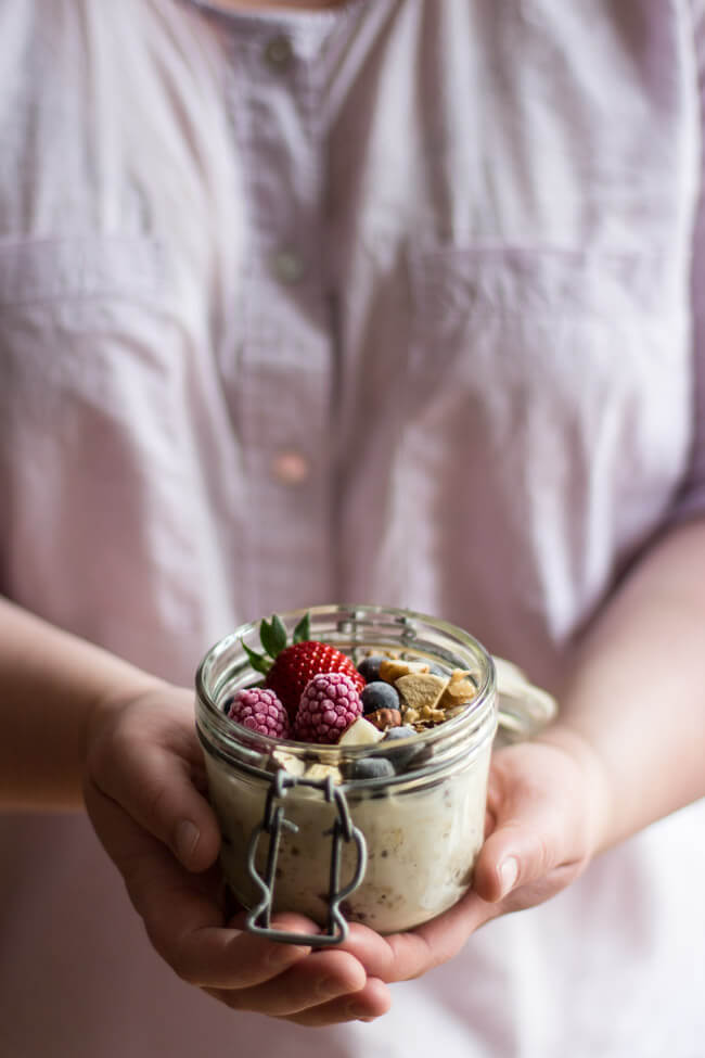 pokkula overnight oats müsli übernacht haferflocken einweichen nüsse apfel jamie oliver gesundes frühstück unterwegs mealprep