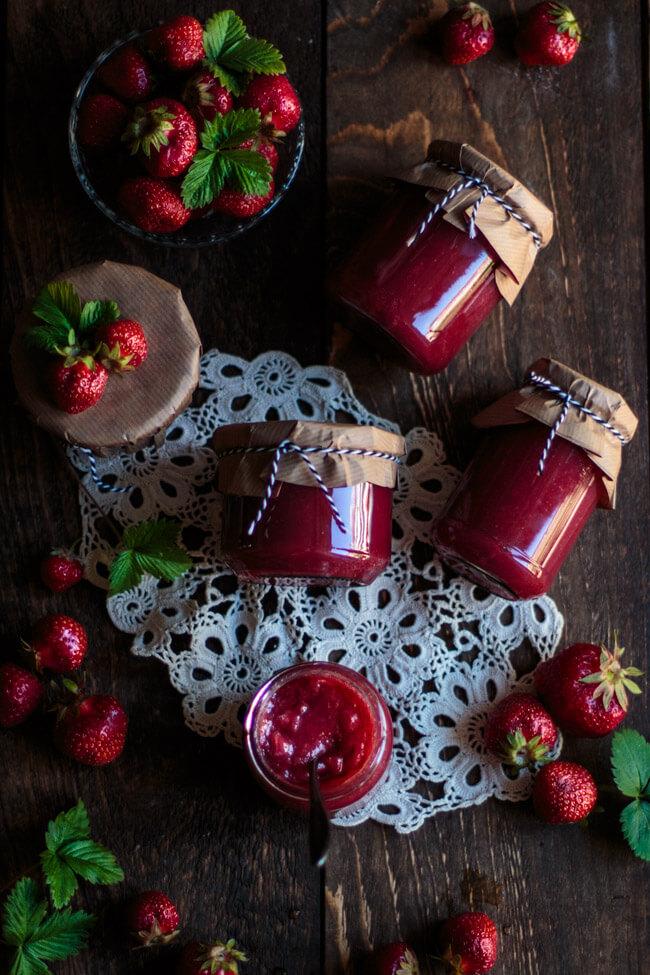 erdbeer marmelade konfitüre einkochen einwecken