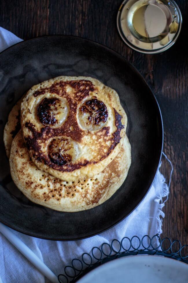 bananen pancakes frühstück amerikanisch usa american breakfast