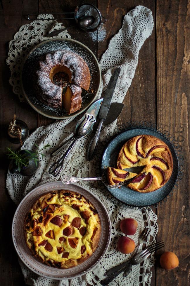 kokos pfirsich kuchen nektarinen käsekuchen eierlikör gugelhupf