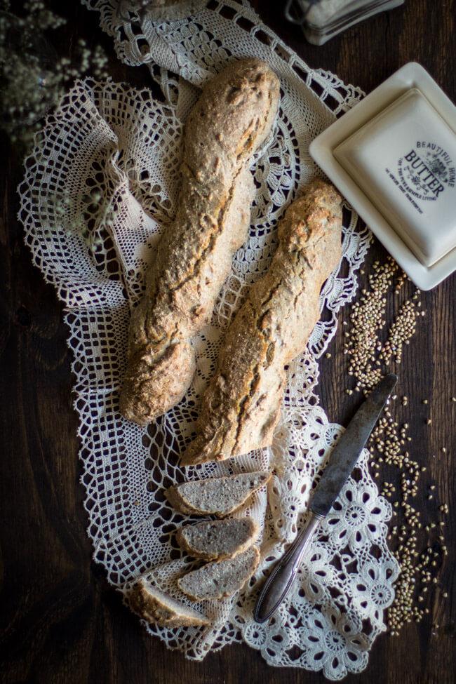 buchweizen mehl baguette dinkel weizen brot backen