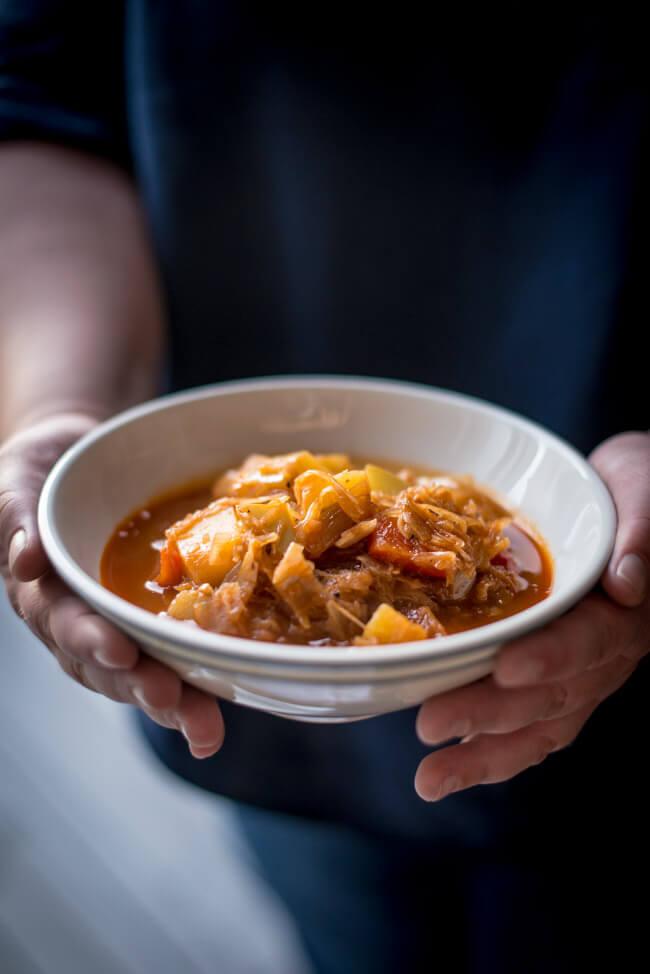 szegediner kürbis gulasch vegan veggie vegetarisch goulash suppe