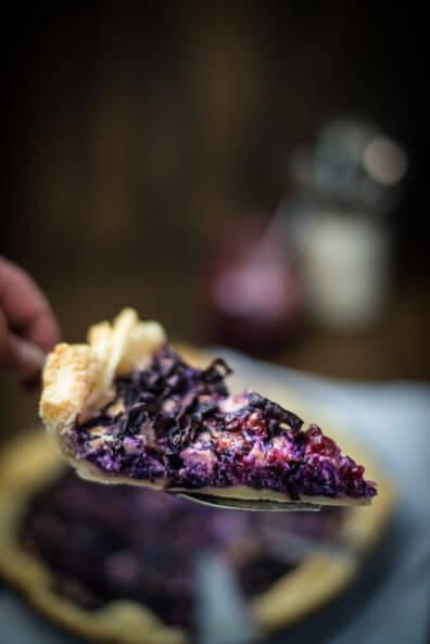 rotkohl quiche tarte preiselbeeren beilage blätterteig rotkraut kohl