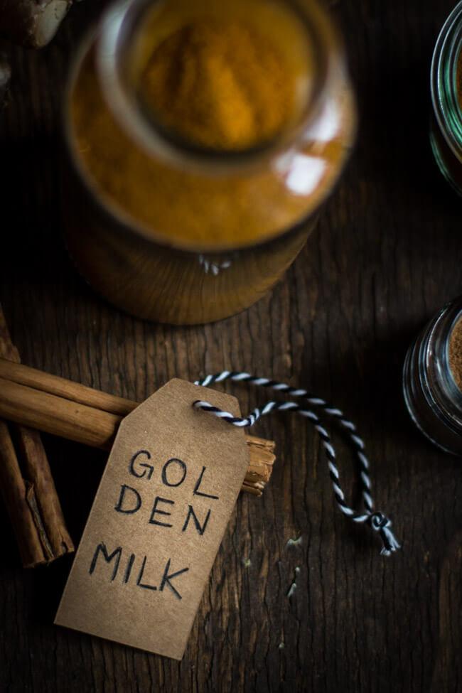 Etikett mit den Worten Golden Milk