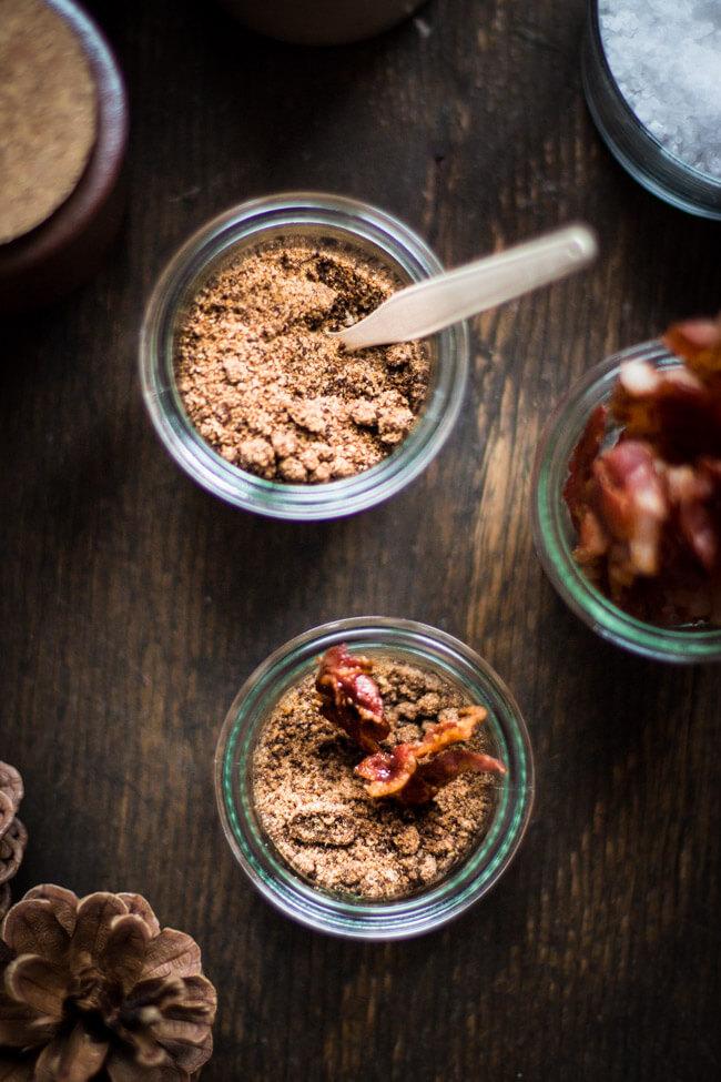 Bacon Salz in Weckgläsern - Draufsicht