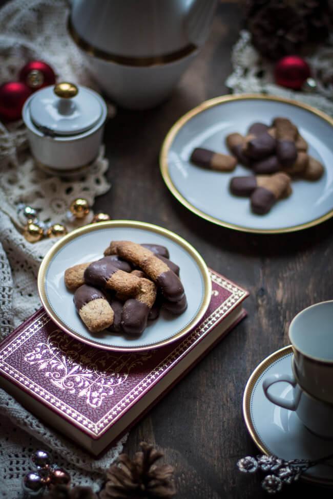 schoko mandel stangen weihnachtsplätzchen mandelplätzchen schokolade einfach schnell last minute