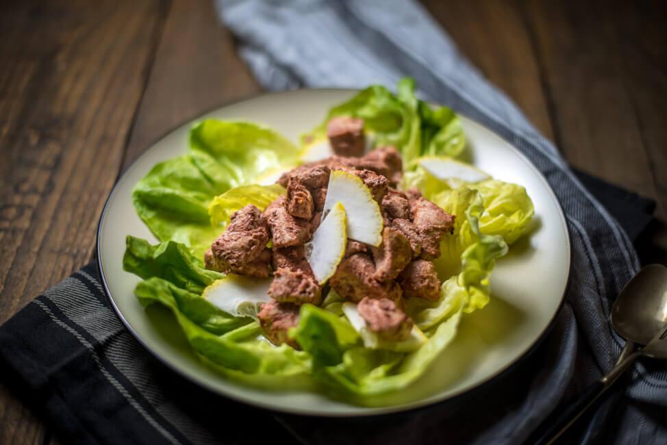 chicken tikka punjab nordindien indisch lowcarb hähnchen joghurt marinade zitrone salat